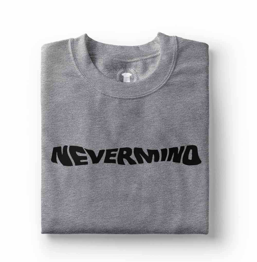 camiseta nirvana nevermind cinza