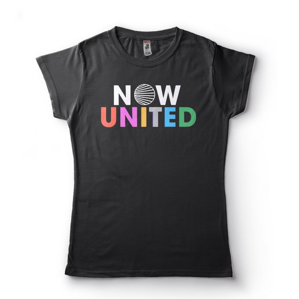 Camiseta Now united colorida preta