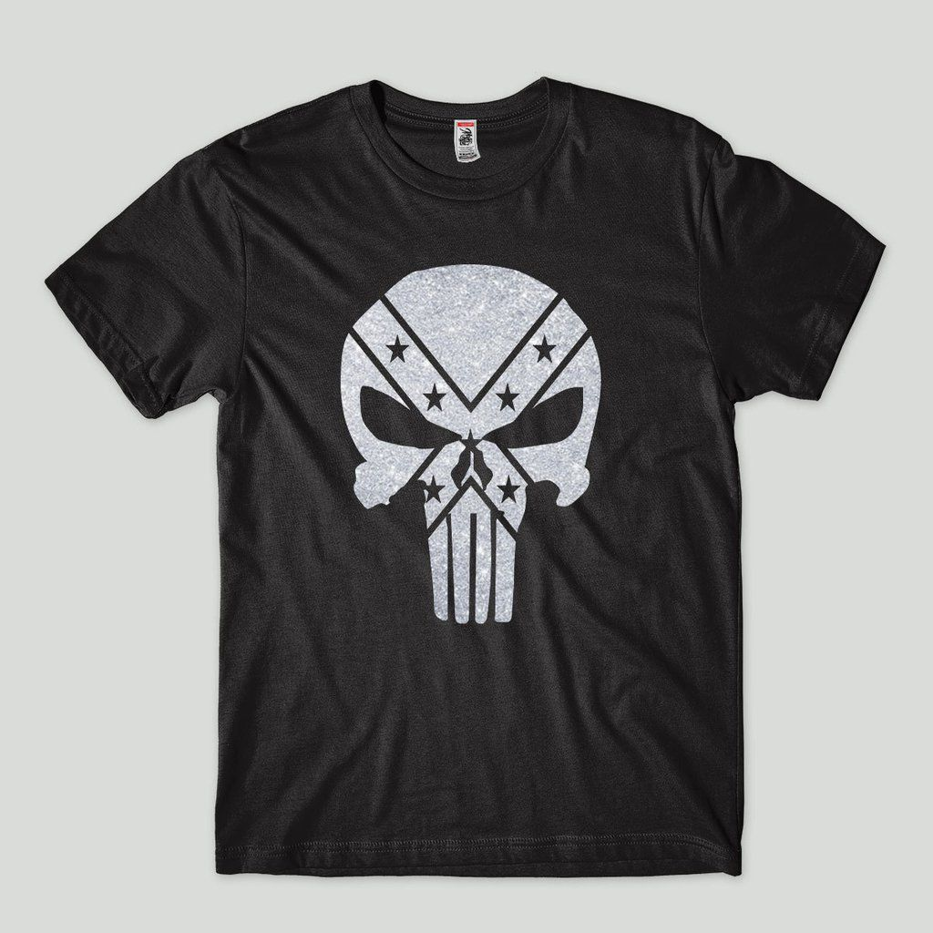 Camiseta o Justiceiro Punisher Estampa prateada Camisa Anti Heroi