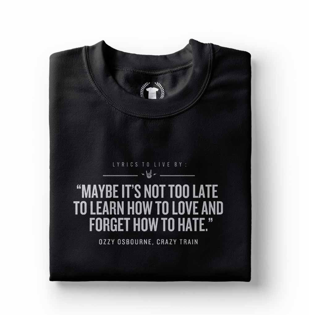 camiseta ozzy osbourne crazy train preta