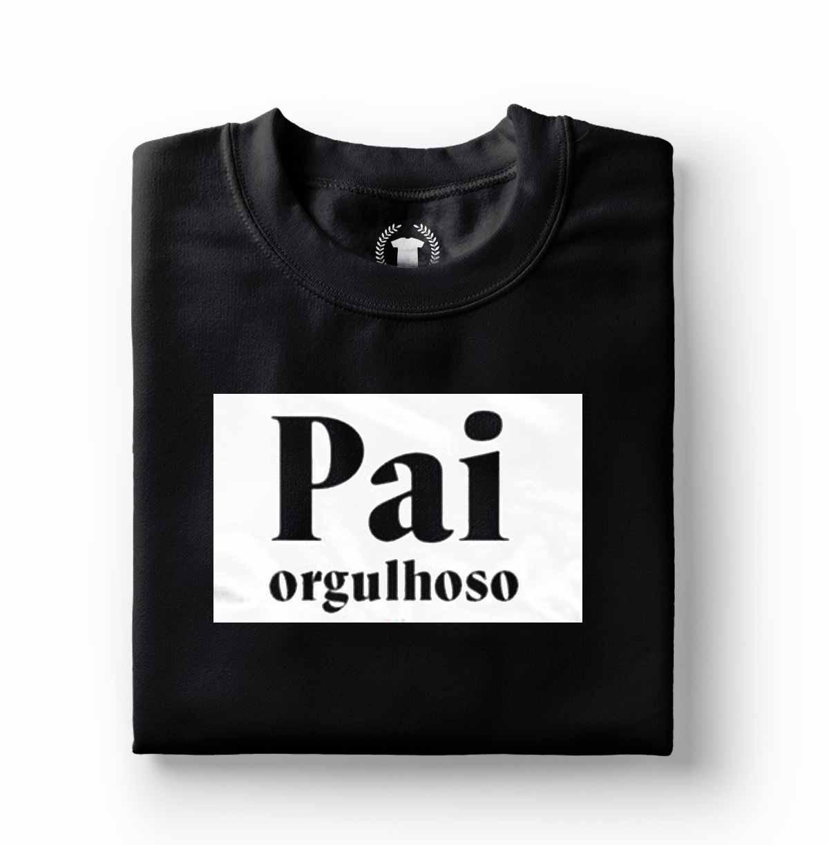 camiseta pai orgulhoso algodao preto