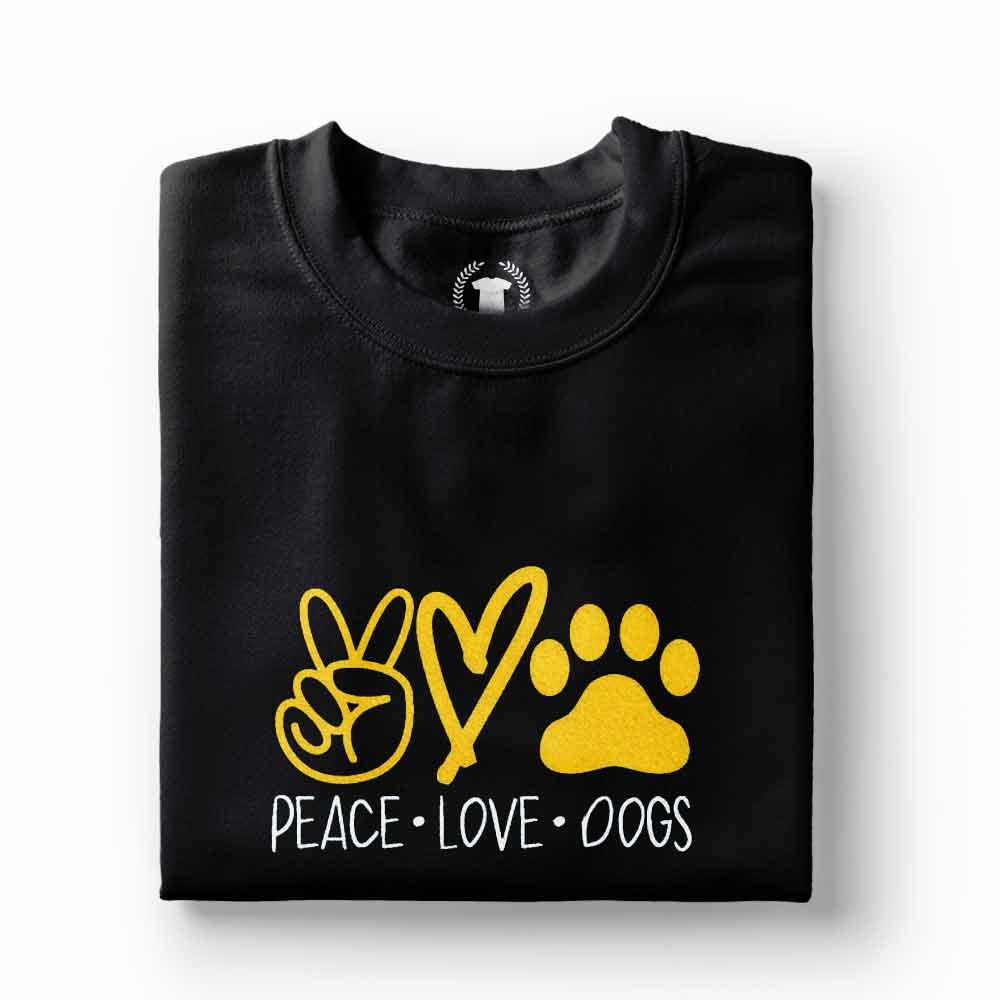 camiseta para quem ama caes paz e amor