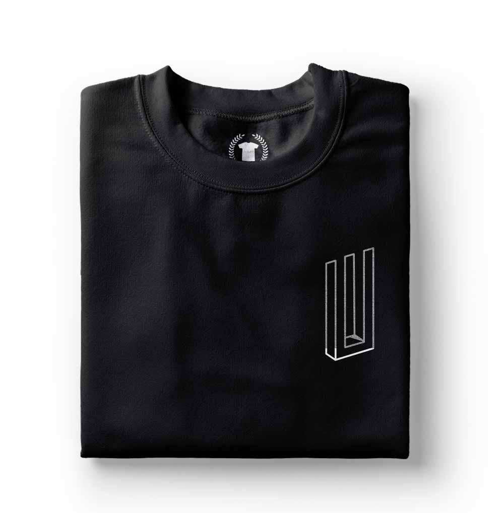 Camiseta Paramore Bars preta simbolo prateado