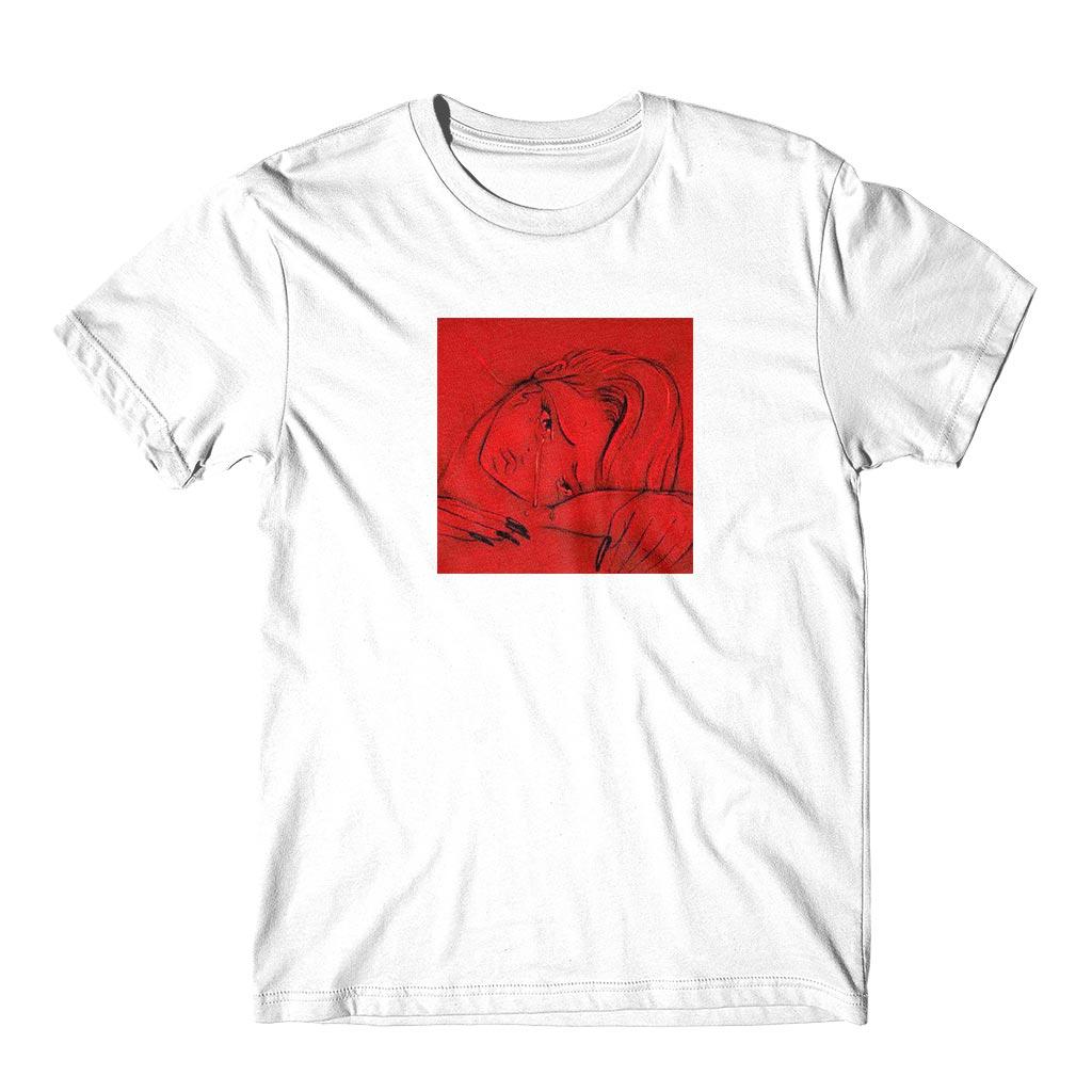 Camiseta Personalizada anime lágrimas vermelha