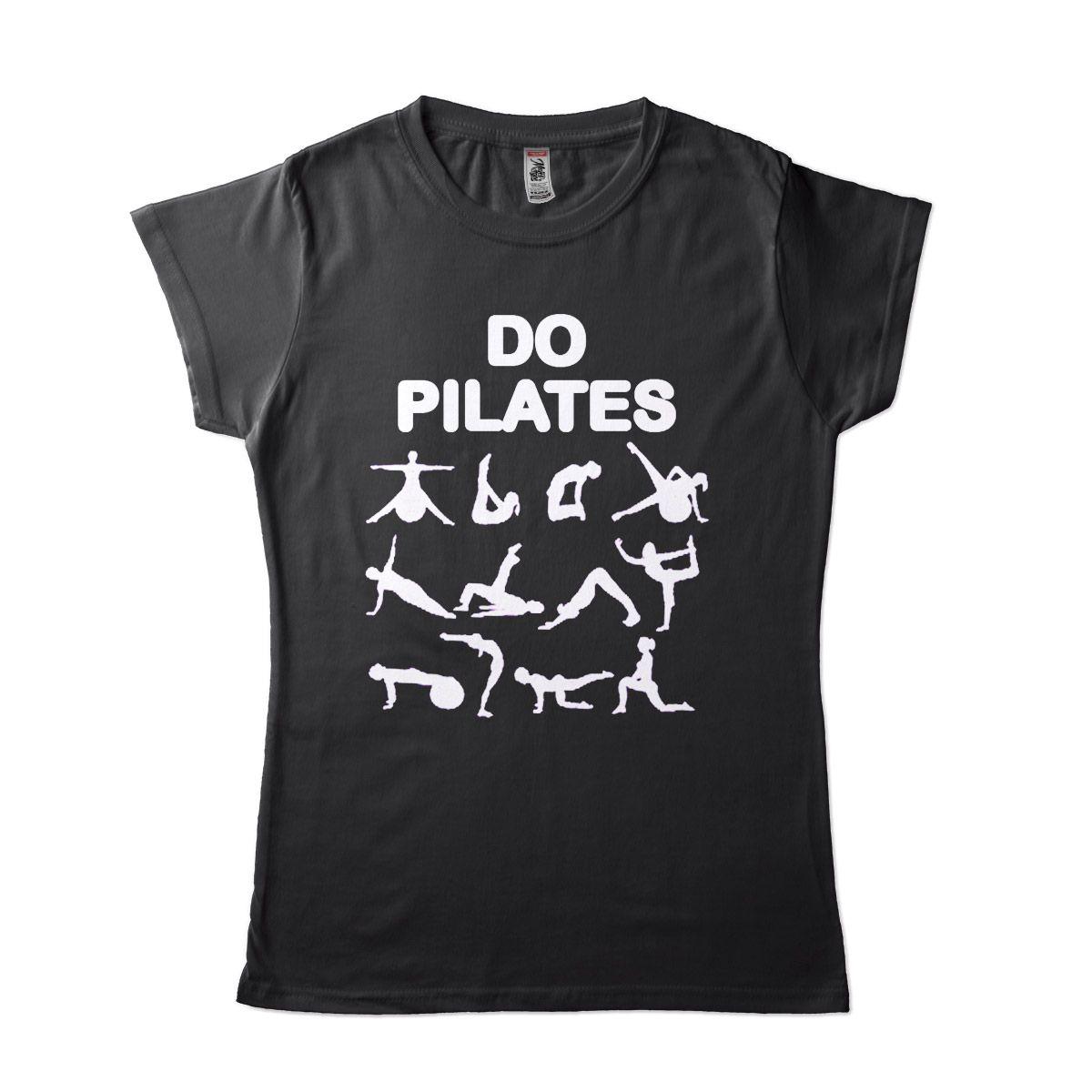 Camiseta Pilates Feminina Posições Postura Equilibrio