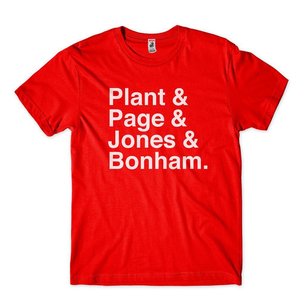 camiseta plant page jones bonham membros led zeppelin