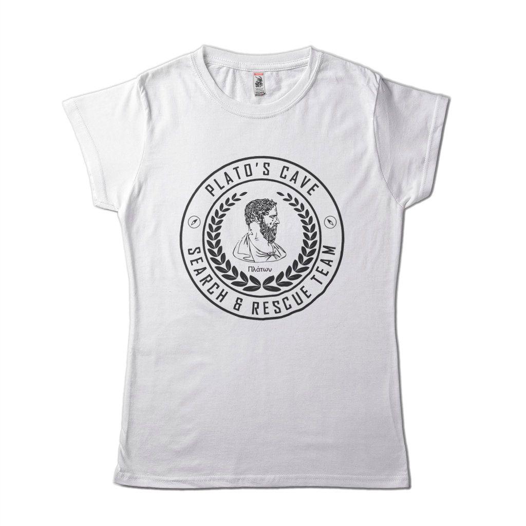 Camiseta Platao Feminina Mito Da Caverna Filosofos E Sabios