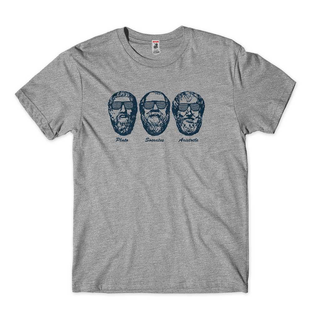 camiseta platao socrates aristoteles na caverna