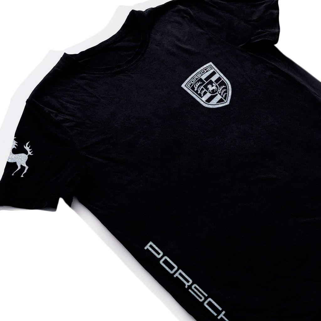 camiseta porsche design blusa masculina preta camisa carro