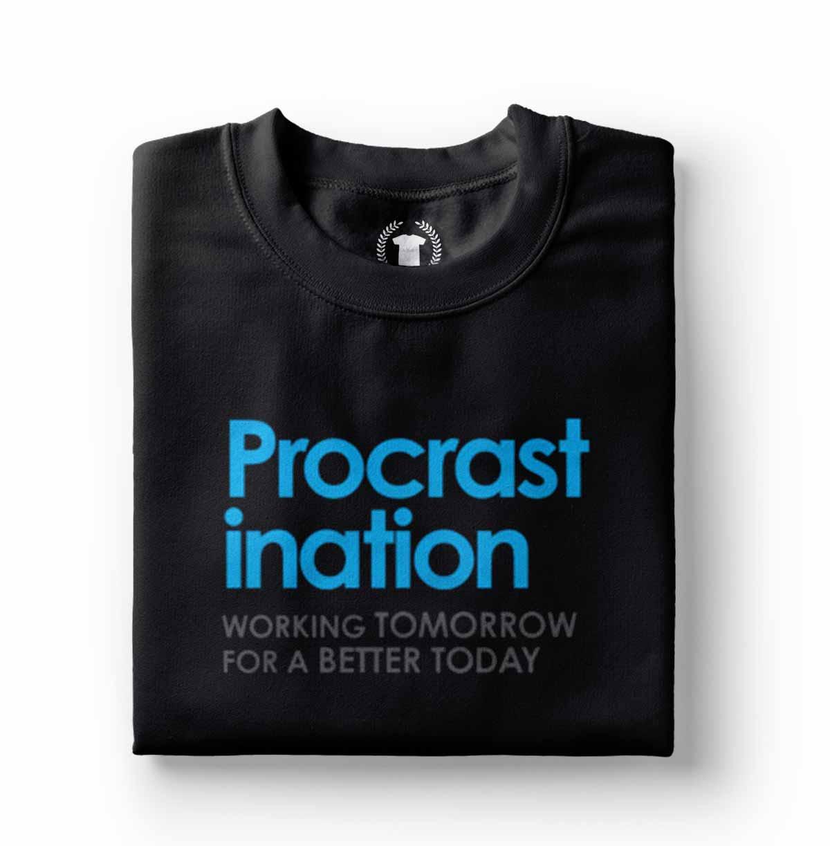 camiseta preguicoso procastinadores frases engracadas