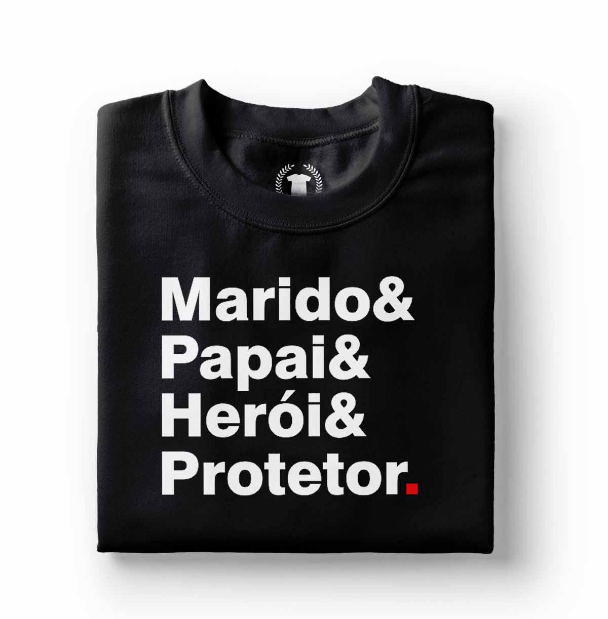 camiseta presente para pai marido heroi protetor