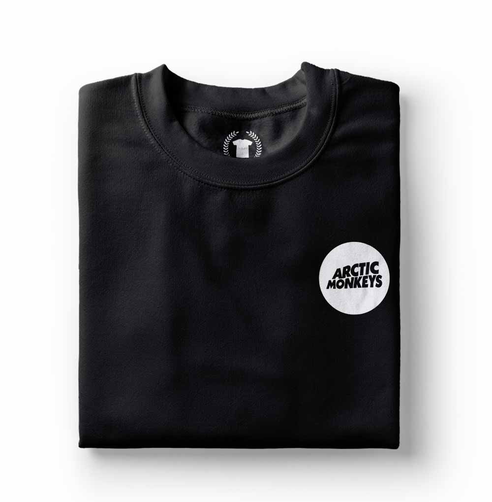 camiseta preta algodao arctic monkeys
