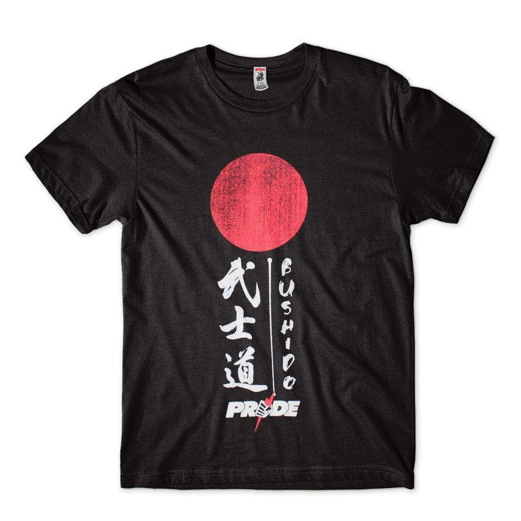 camiseta pride bushido japao competidor masculina preta