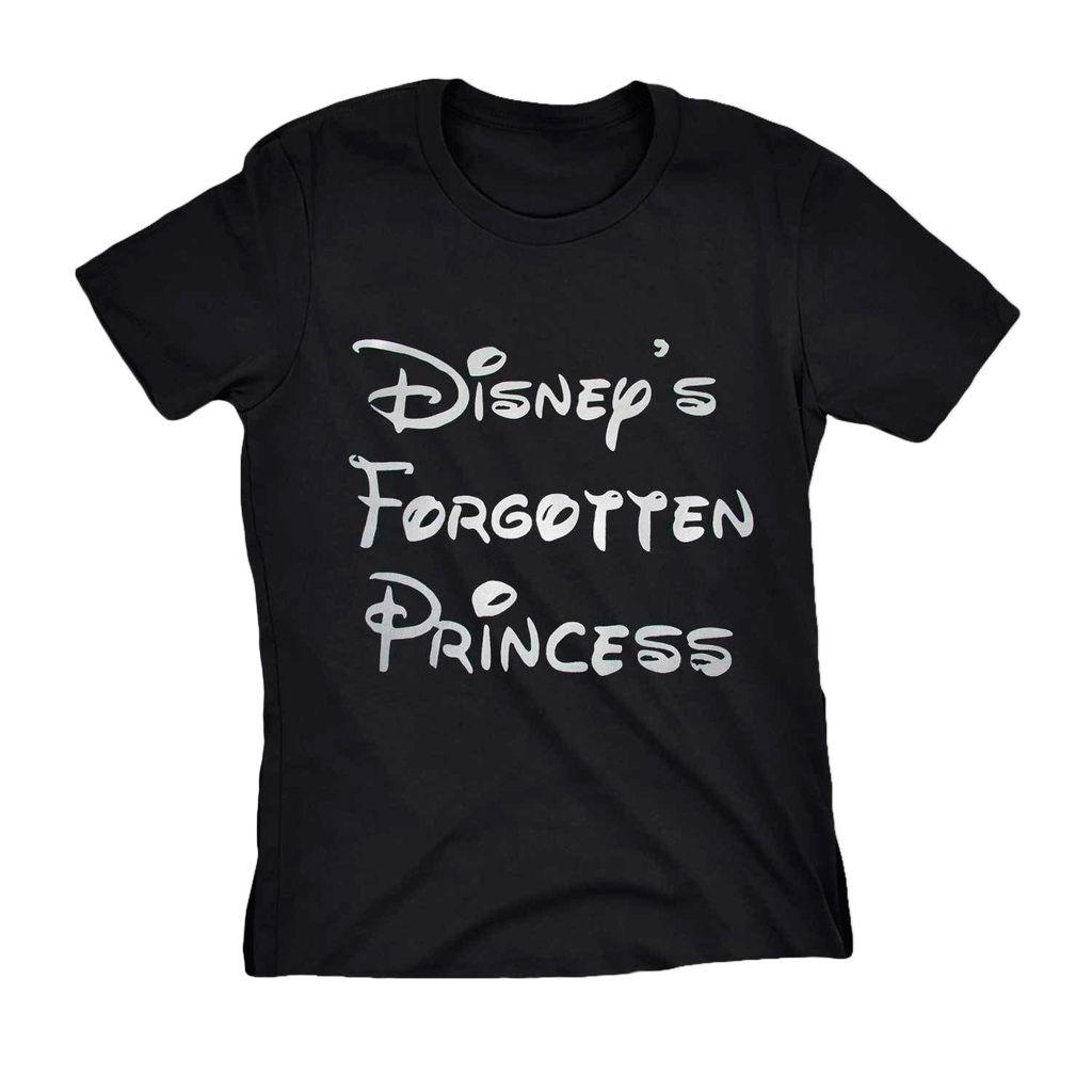 Camiseta Princesa Disney Preta Forgotten Princess