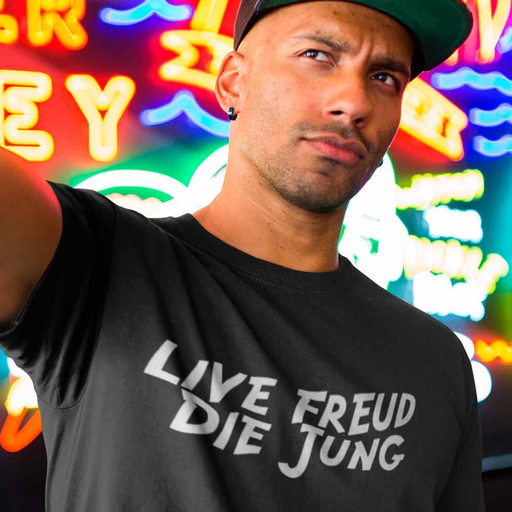 camiseta psicologia freud e jung humor filosofico
