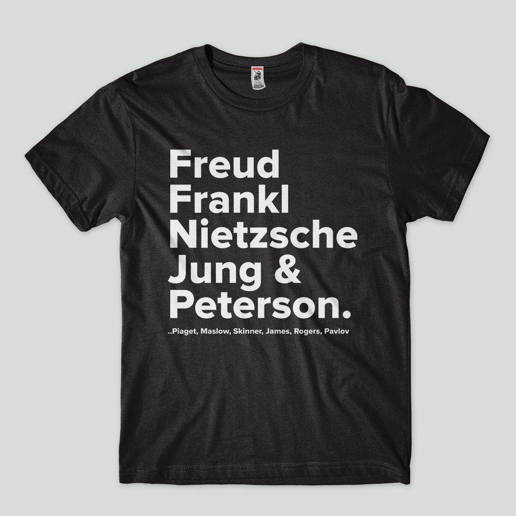 Camiseta Psicologia Freud Jung Peterson Frankl G Preto