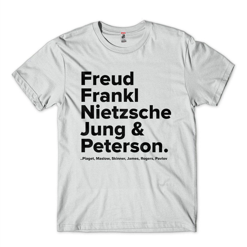 Camiseta Psicologia Freud Jung Peterson Frankl Pensadores