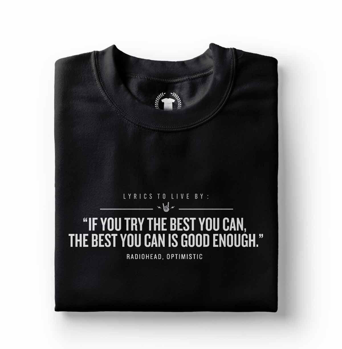 camiseta radiohead optmistic