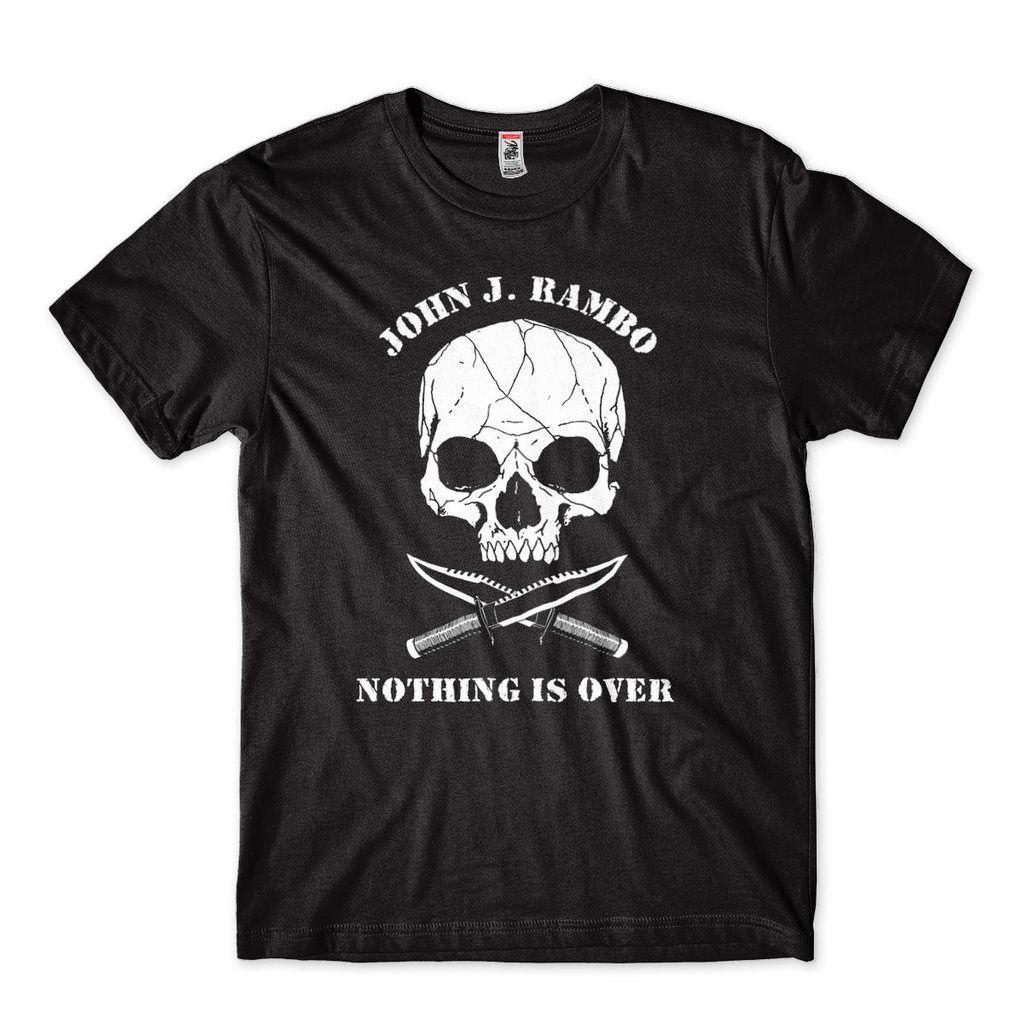 Camiseta Rambo Masculina tamanho G Preta