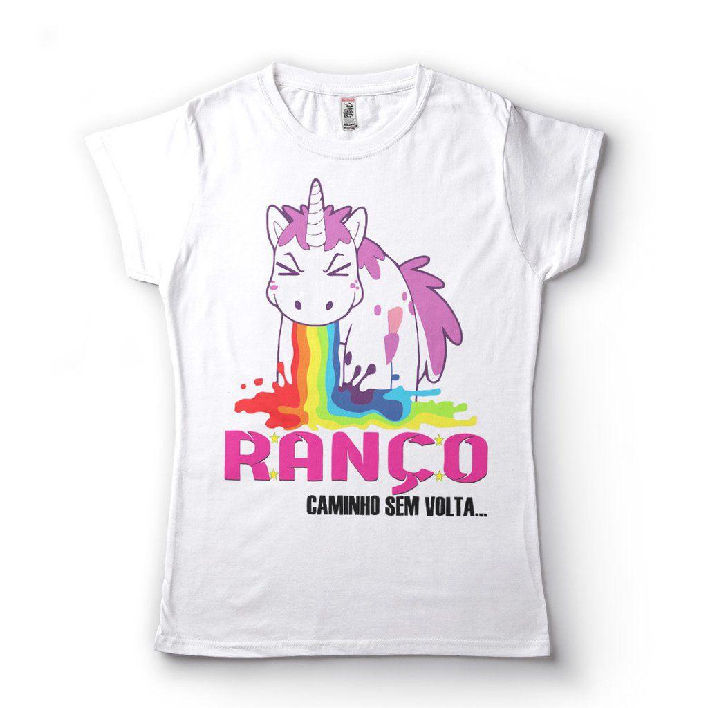 Camiseta Ranco Unicornio Caminho Sem Volta Babylook