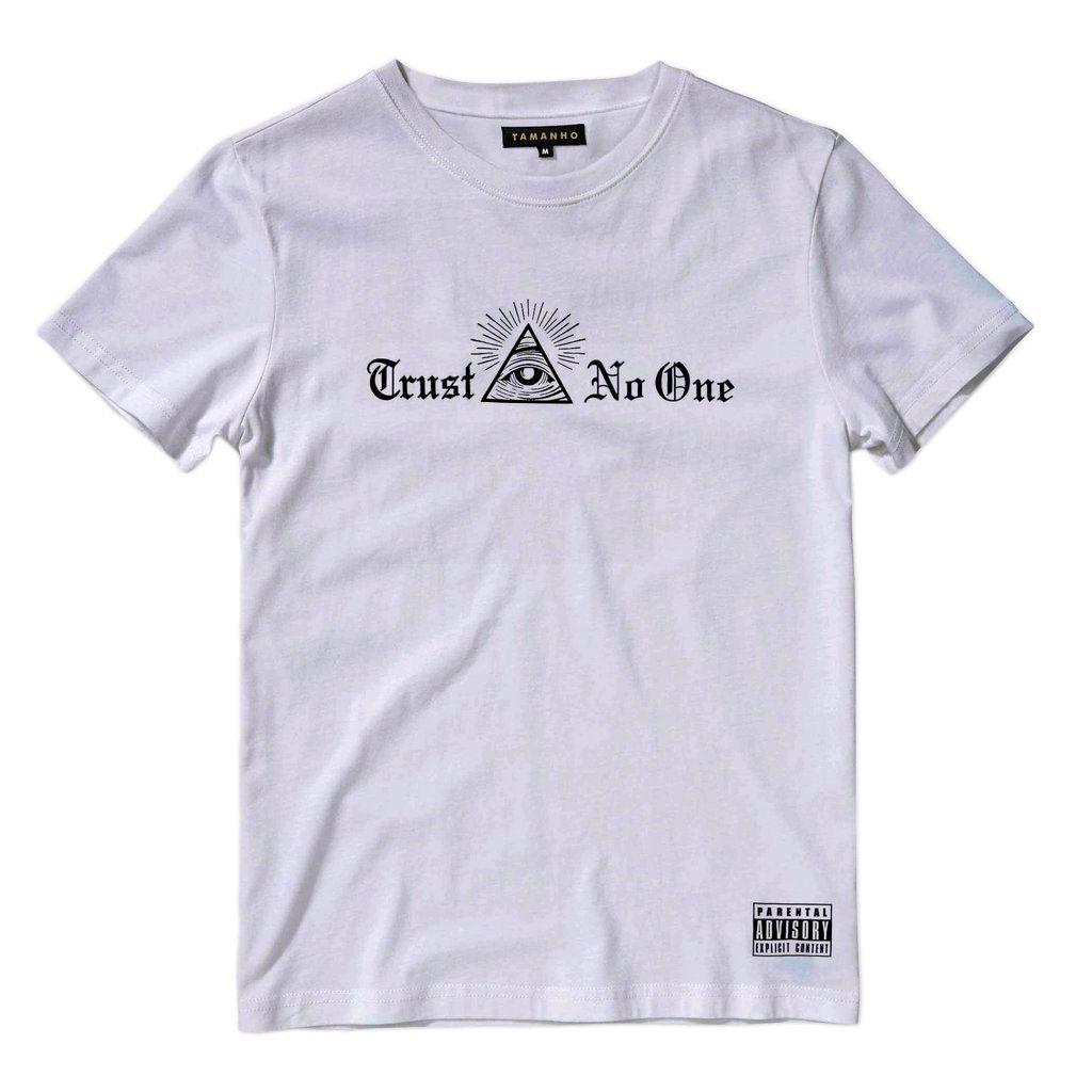 Camiseta Rap Compton Trust no One Swag Branca Masculina