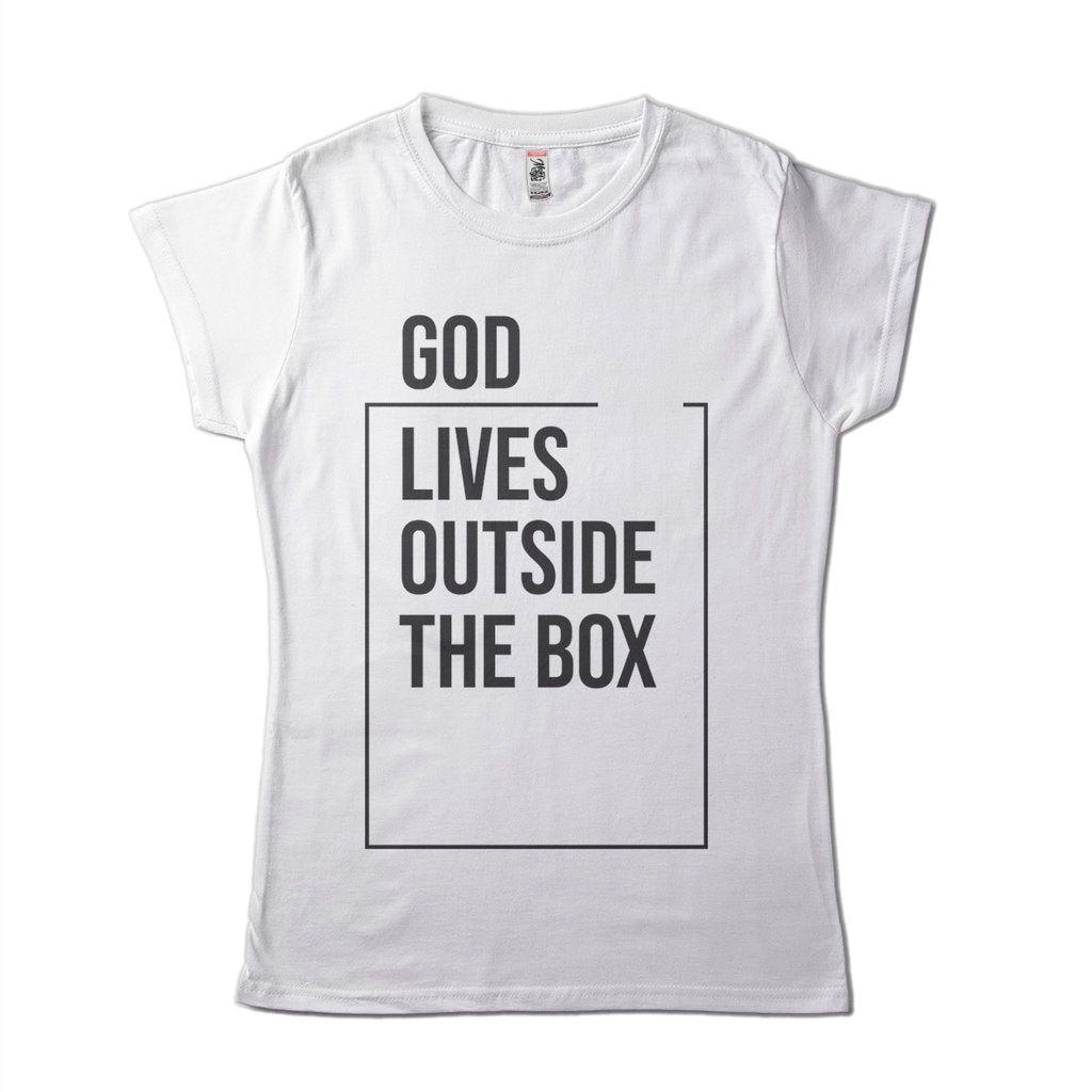 Camiseta Religiosa Criativa Feminina God Lives Deus Vive