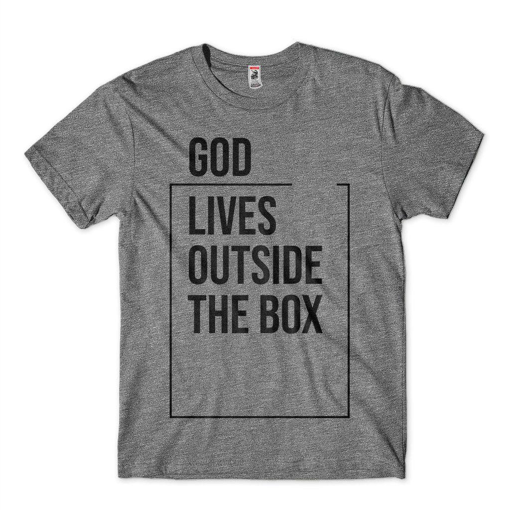 Camiseta Religiosa Criativa Masculina God Lives Deus Vive