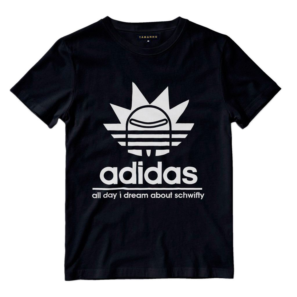 Camiseta Rick And Morty Masculina Adidas Camisa Get Schwifty