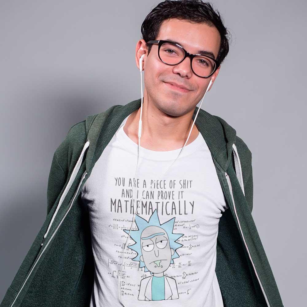 Camiseta Rick And Morty Shit Masculina Camisa Blusas Baratas