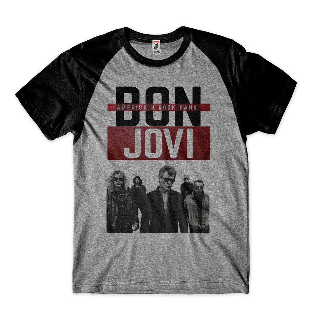 camiseta rock n roll bon jovi album