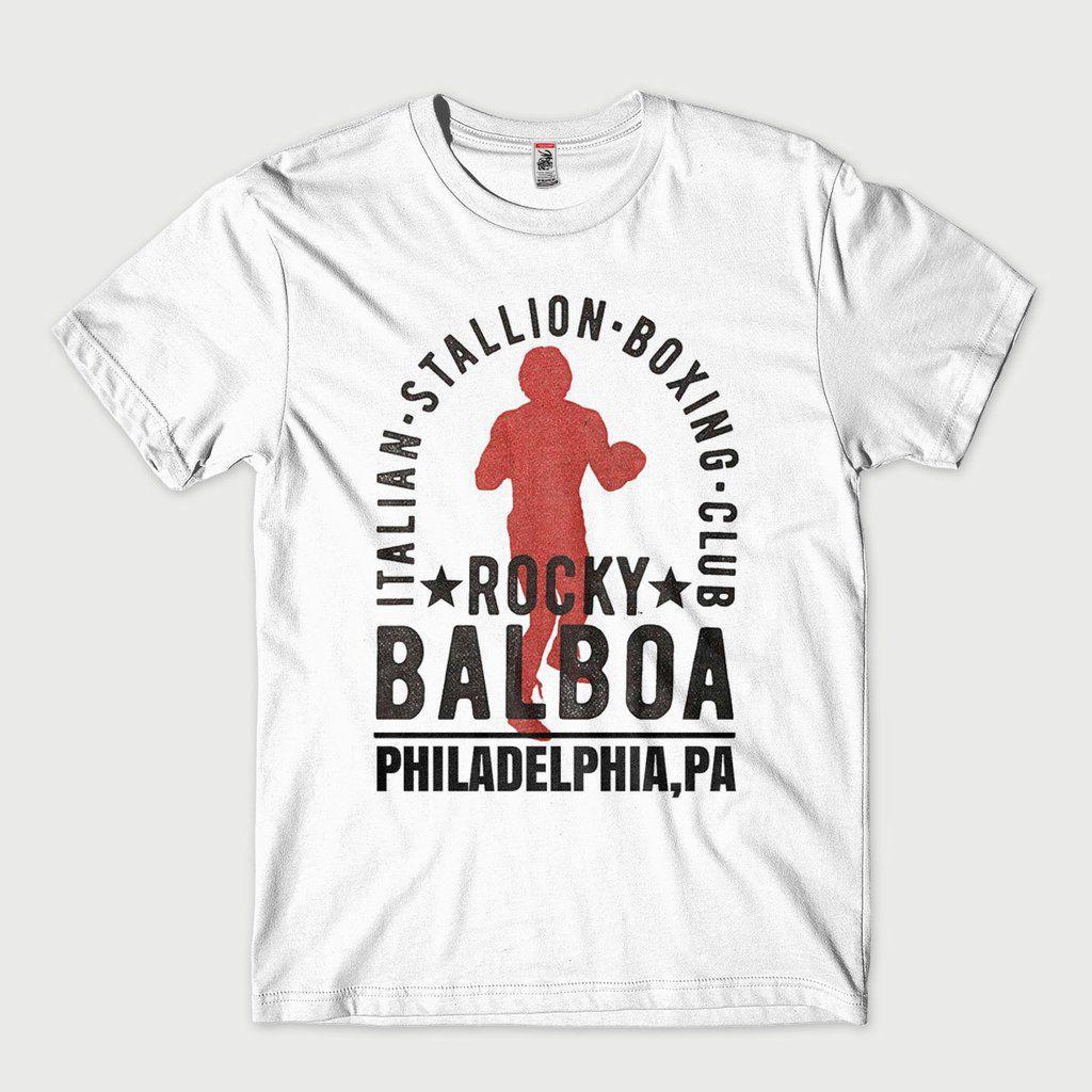 Camiseta Rocky Balboa Masculina tamanho G Branca