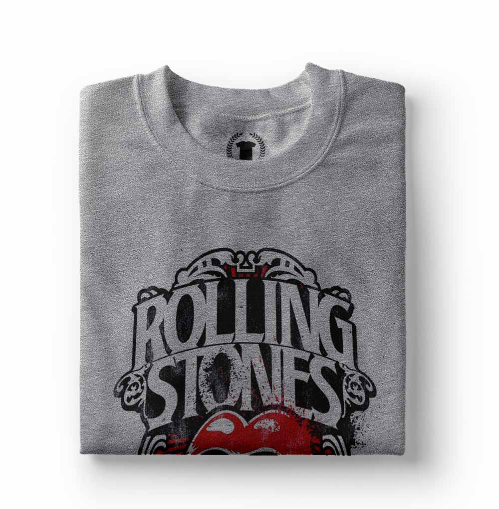 camiseta rolling stones estampada cinza