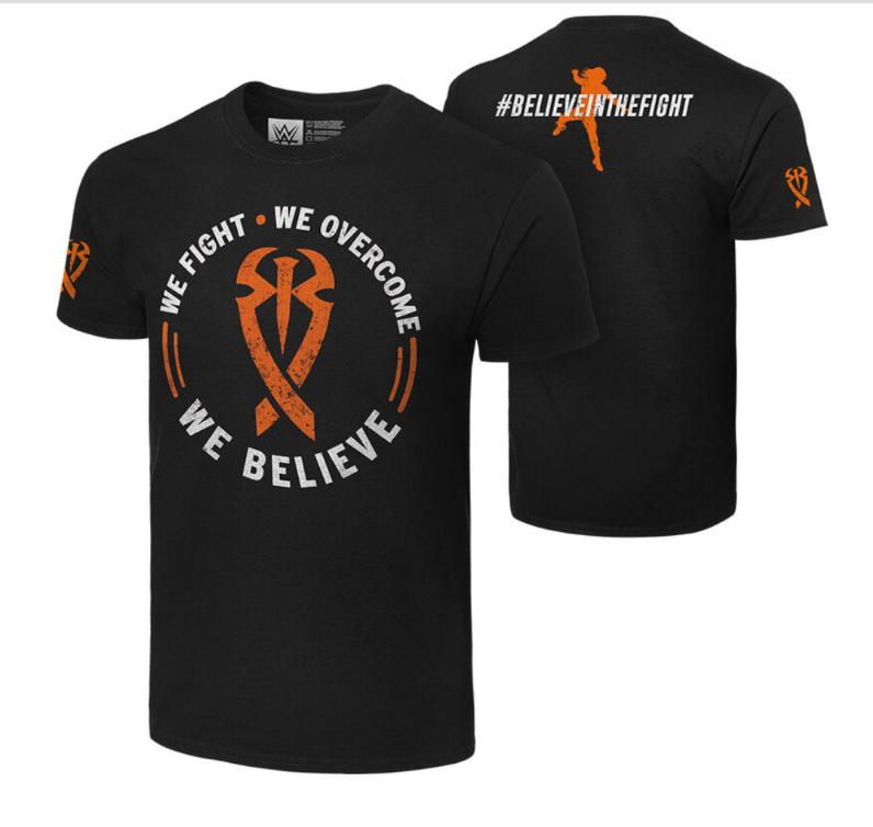 camiseta roman reigns believe in the fight frente costa ombro