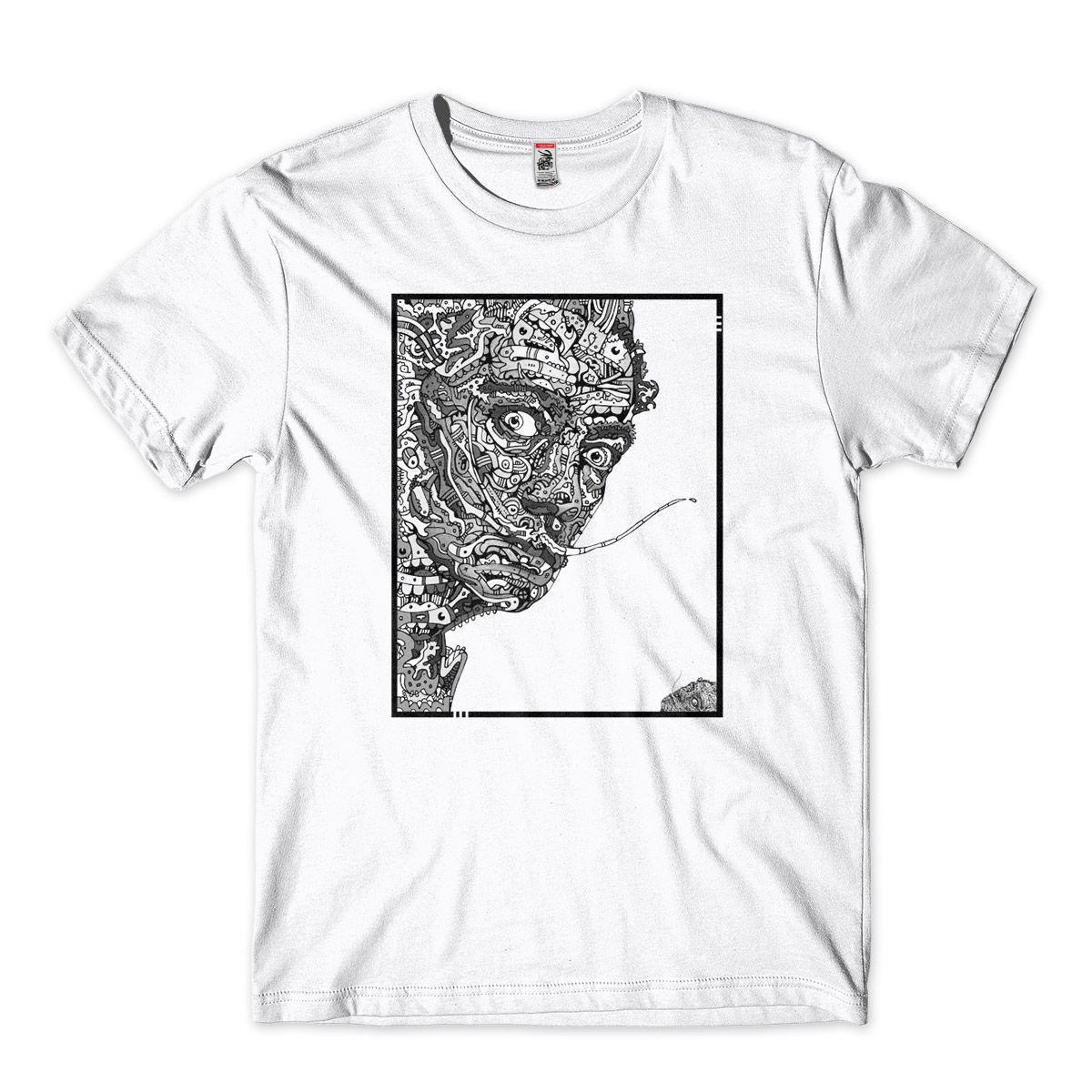 Camiseta salvador dali surrealismo Retrato Geometrico