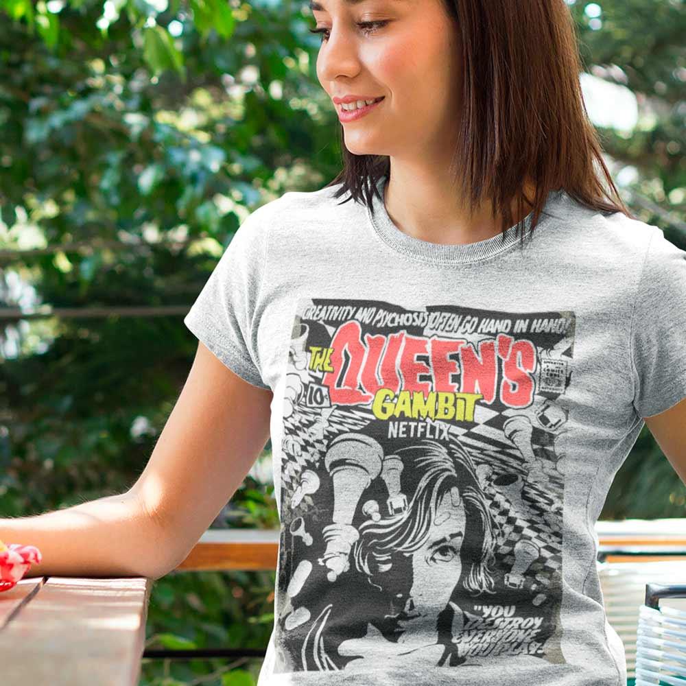Camiseta Série O Gambito Da Rainha Beth Harmon