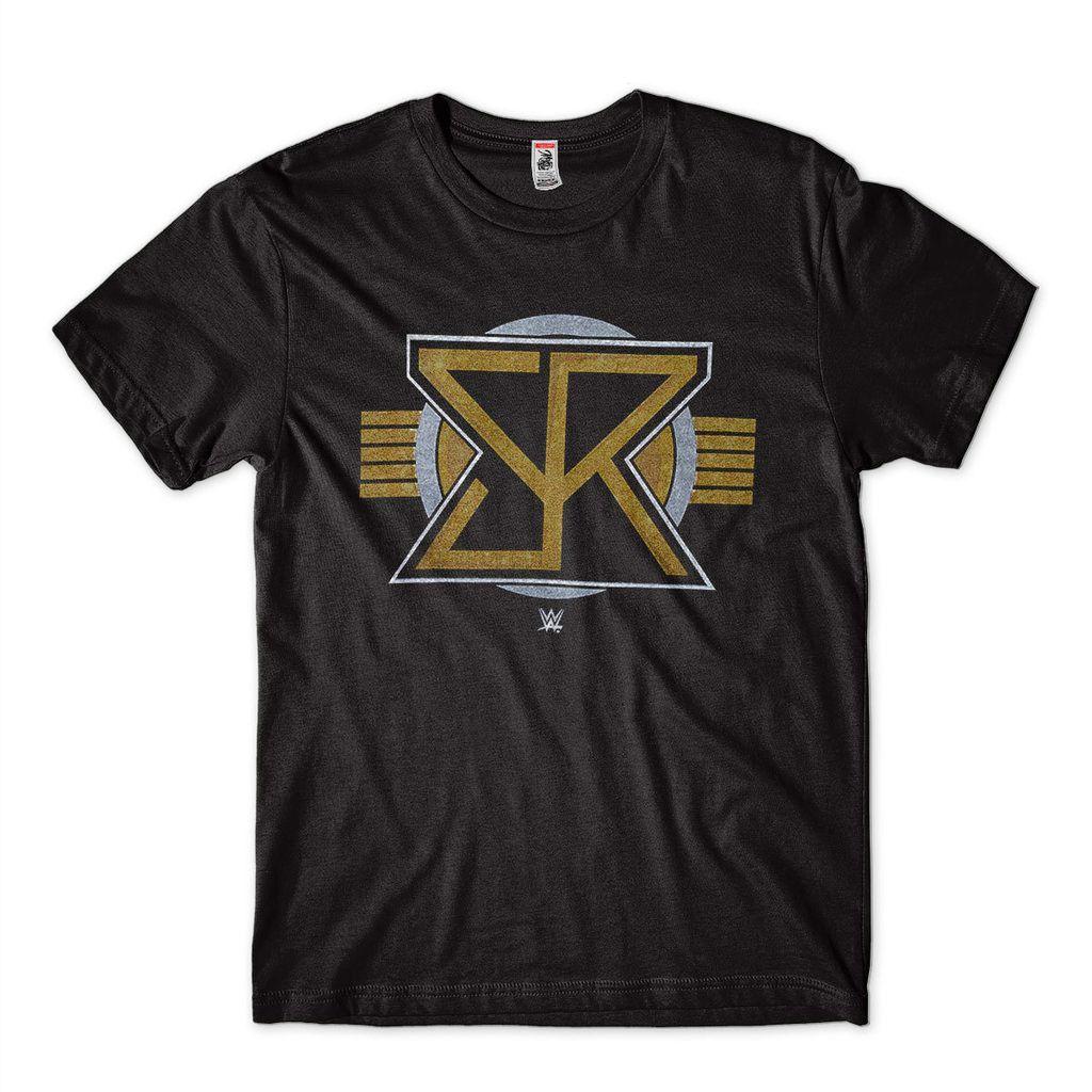 Camiseta Seth Rollins Estampada Logo Sr Dourada Wwe