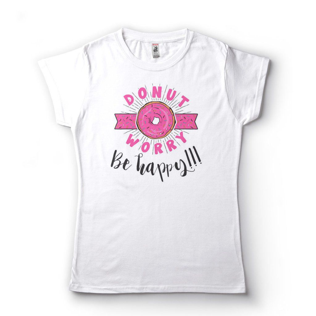 Camiseta Simpsons Engracada Feminina Donnut Worry Be Happy