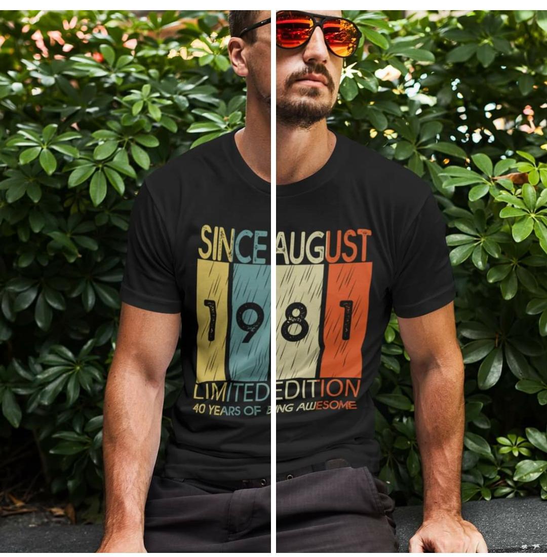 camiseta since limited edition de aniversario personalizade com data