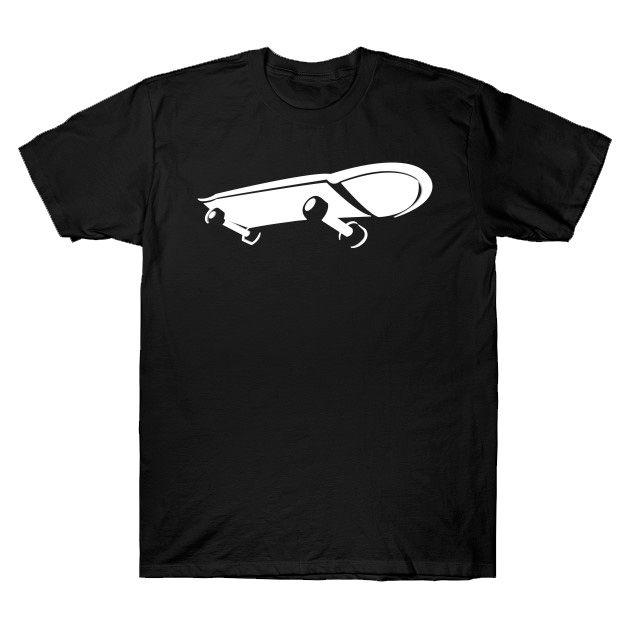 camiseta skater skateboard preta