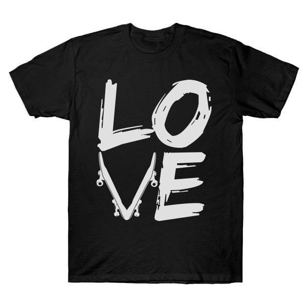 Camiseta SkateBoard Love