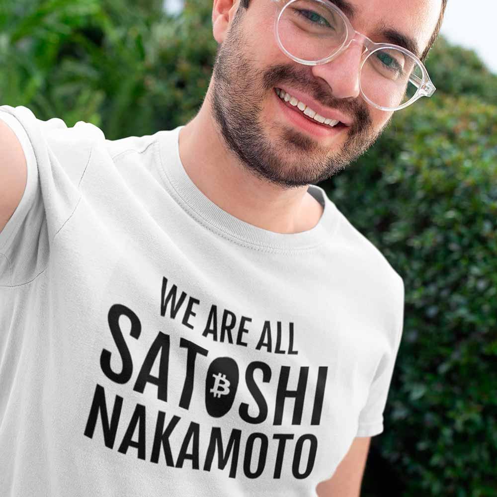 camiseta somos todos satoshi nakamoto