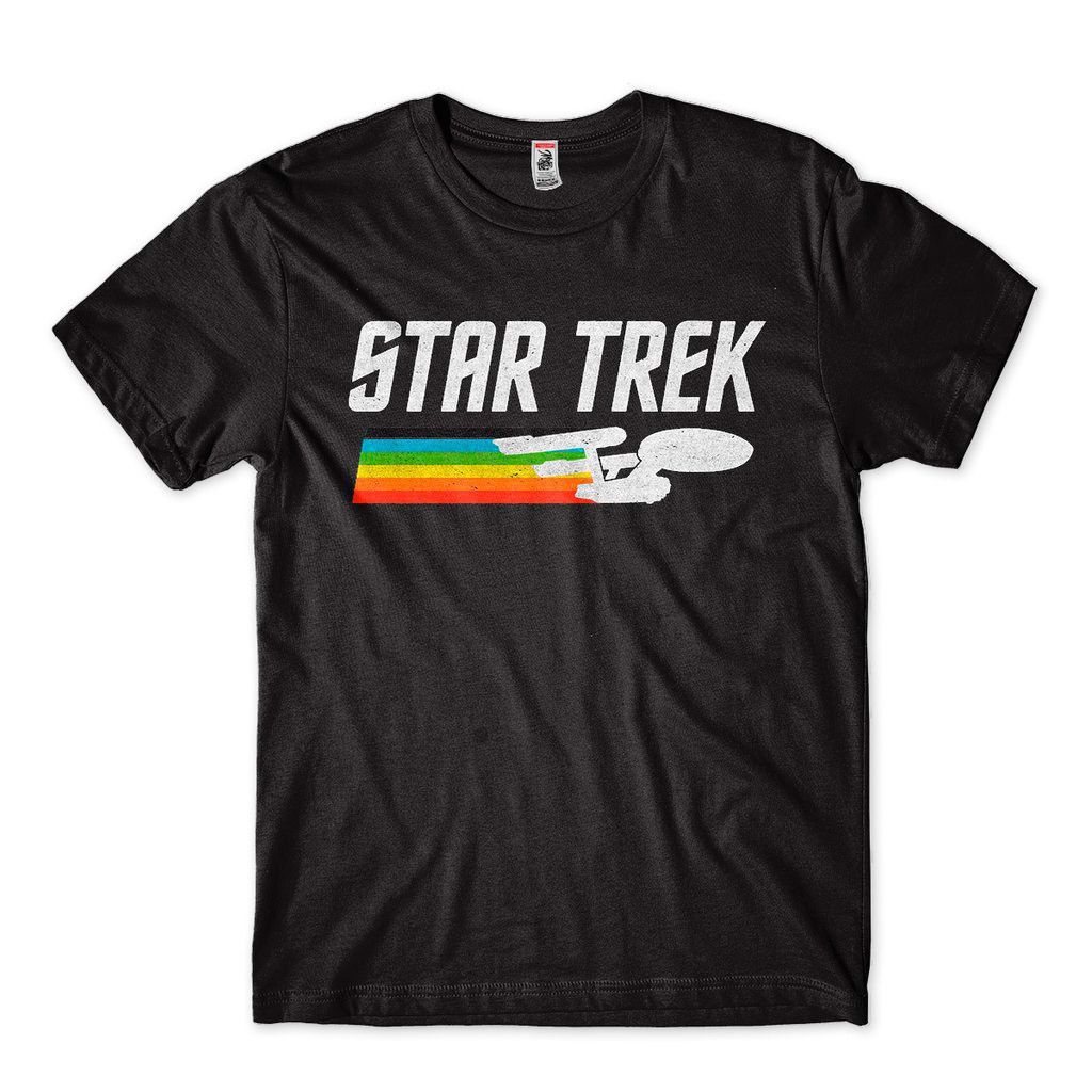 Camiseta Star Trek Discovery Capitao Kirk Spock Masculina
