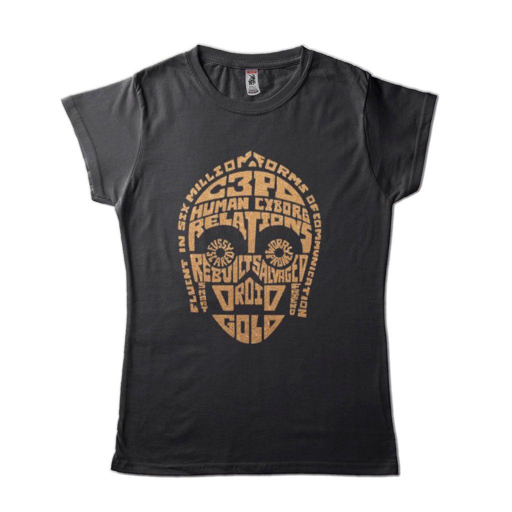 Camiseta Star Wars Feminina C3Po Camisa Disney