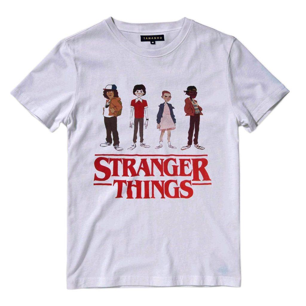 Camiseta Stranger Things Elle Mike Dustin Netflix Masculina