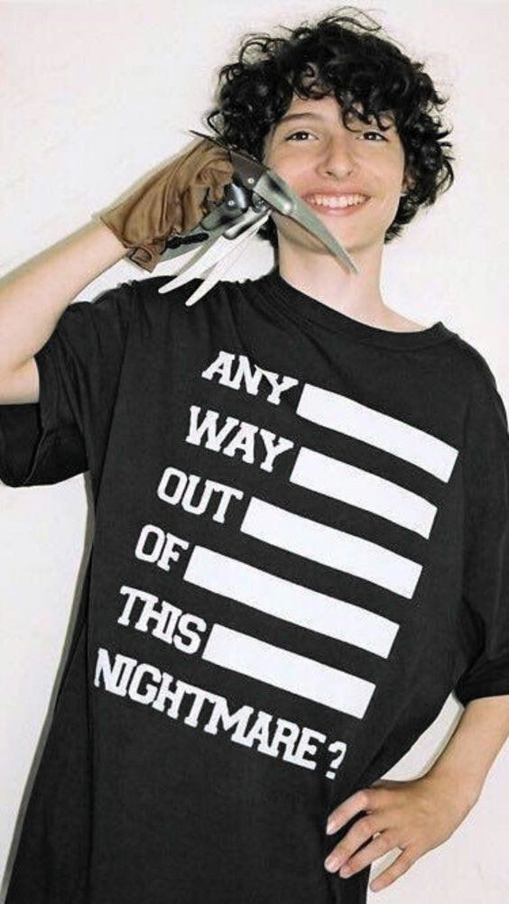 Camiseta Stranger Things Masculina Preta Camisa Nightmare