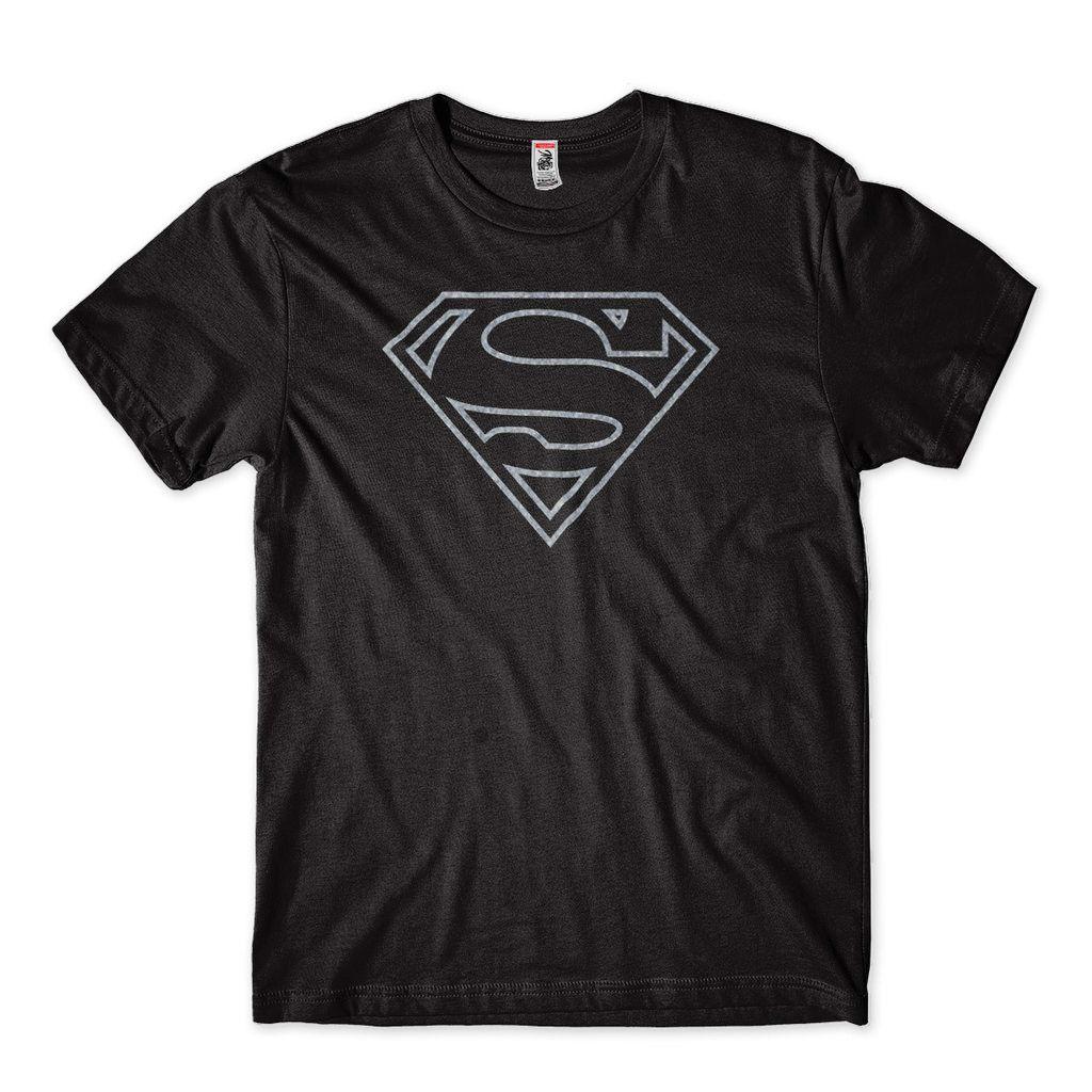 camiseta superman preta super herois super homem masculina