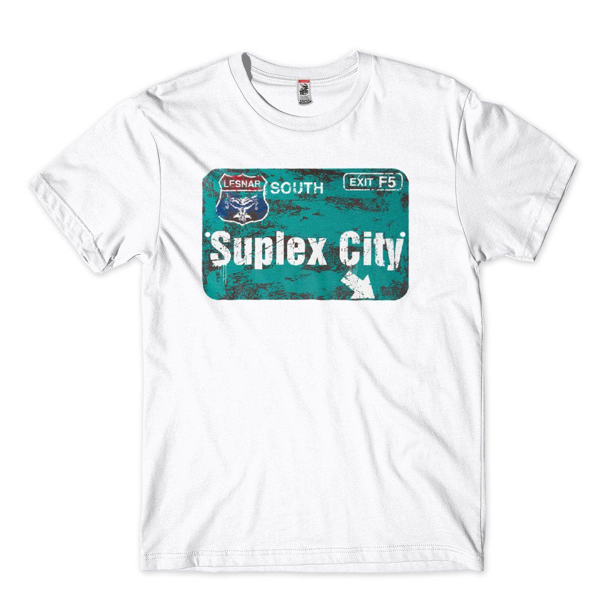Camiseta Suplex City Wwe Camisa Masculina Brock Lesnar