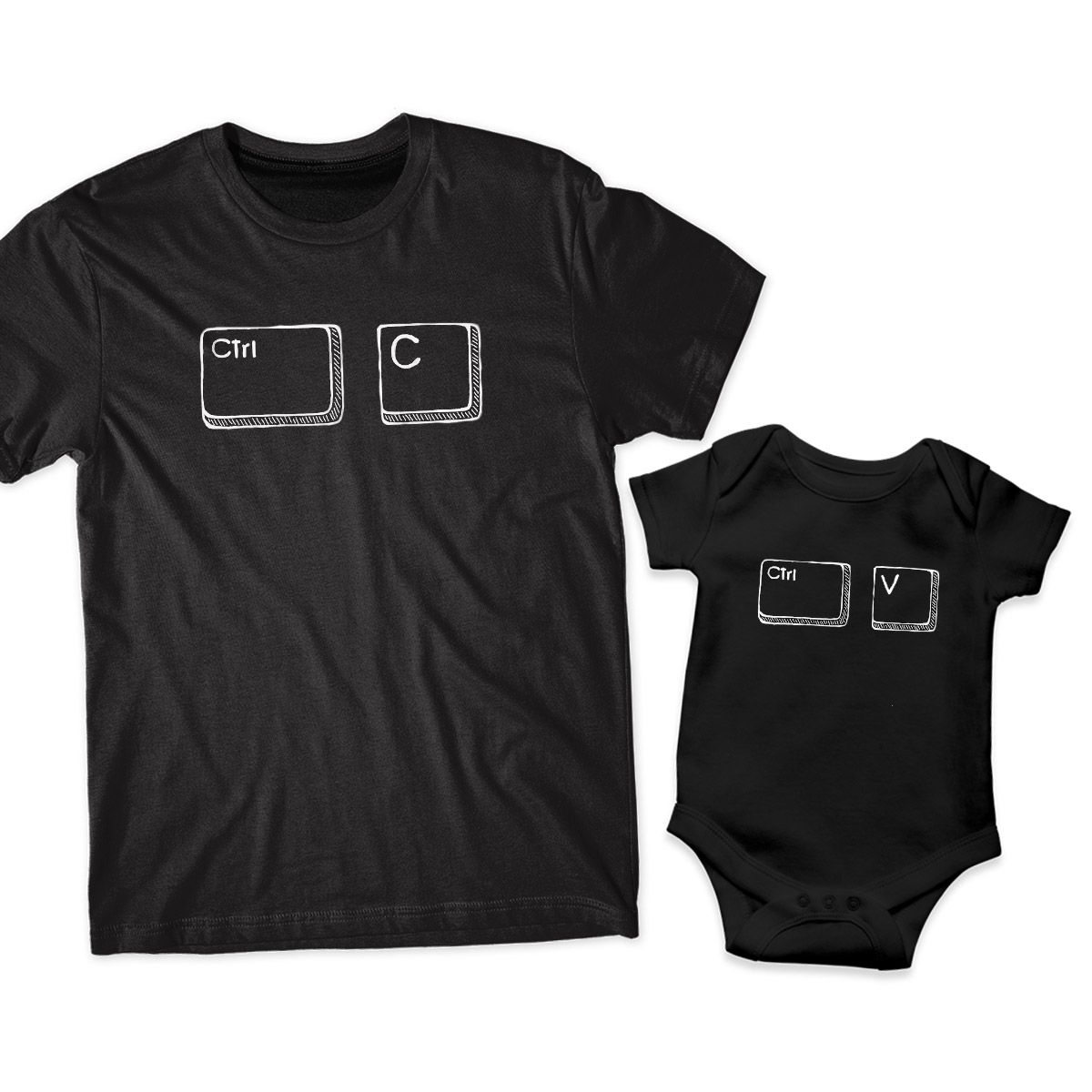 camiseta tal pai tal filho control c control v