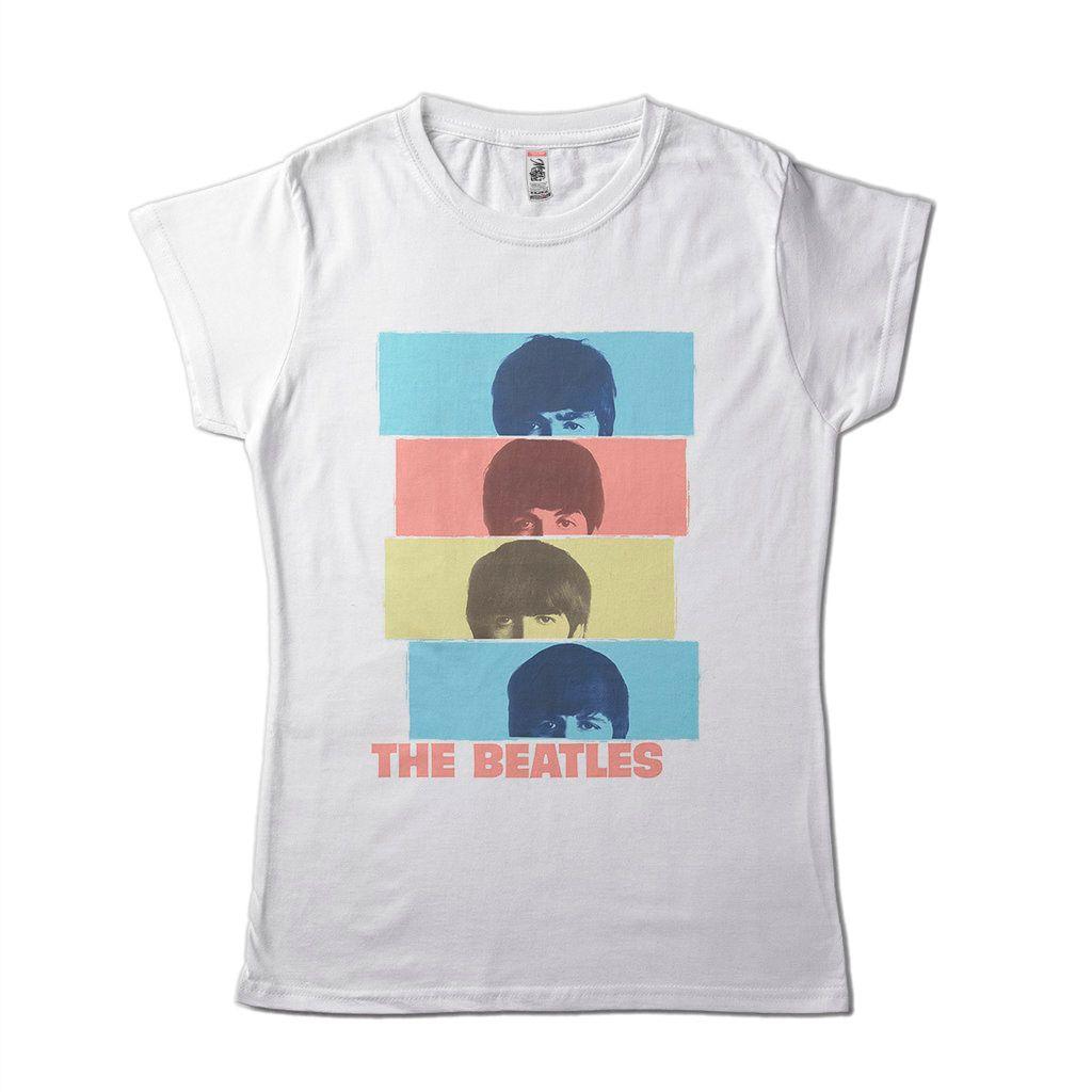 Camiseta The Beatles bandas de rock Head Shot branca