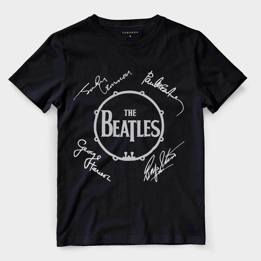 Camiseta The Beatles Masculina banda classica de rock